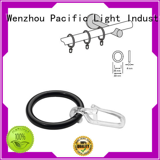professional curtain rod rings with clips factory price for patio door