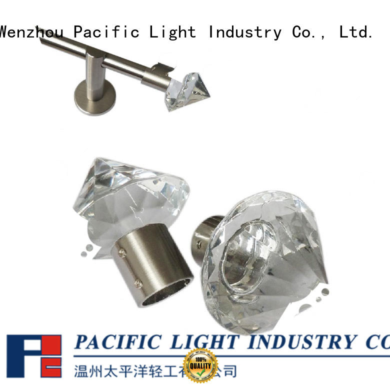 Pacific brass curtain finials function for hotel