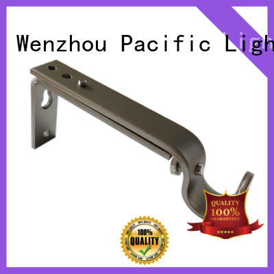 Pacific Wholesale black metal curtain pole brackets manufacturers for arched window