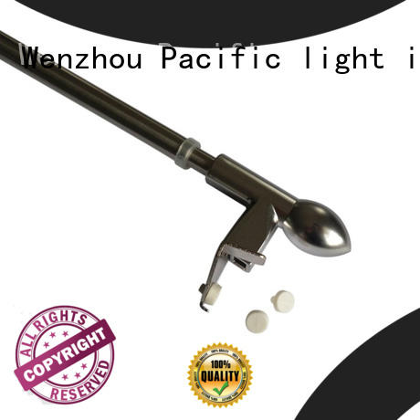 Pacific cafe curtain rod manufacturer for arched window