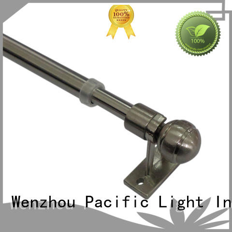 Pacific plain curtain rod supply for small window