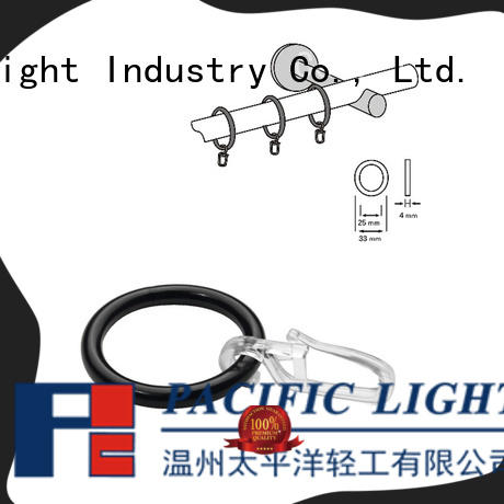 Pacific steel curtain rings factory for bay window