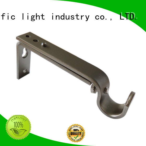Pacific uncomplicated strong curtain pole brackets components for sliding door