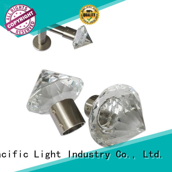 Pacific Wholesale curtain pole with crystal finials supply for office