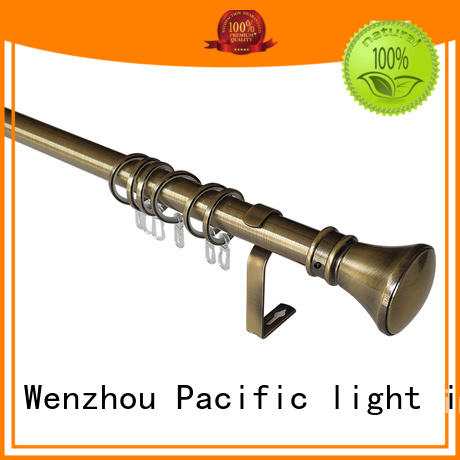 uncomplicated brushed gold curtain pole wholesale for corner