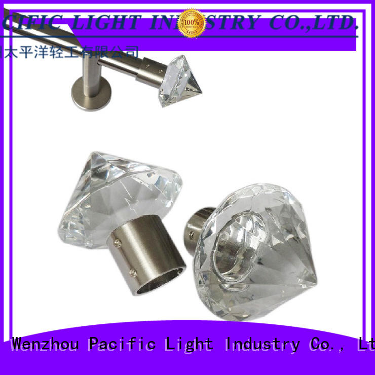 Pacific different types of curtain rod finials size for house