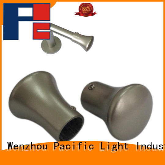 Pacific leaf finial curtain rod factory for company