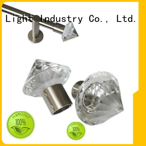 Pacific New glass curtain pole finials suppliers for company