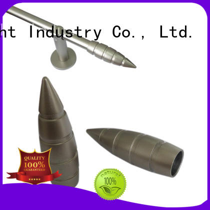 good quality metal finials for curtain rods size for office