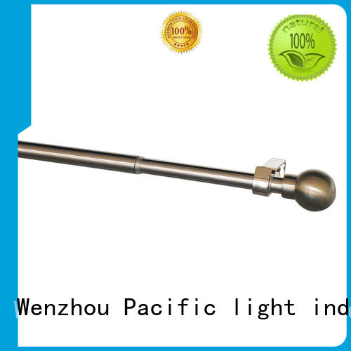 Pacific standard white curtain rods wholesale for arched window
