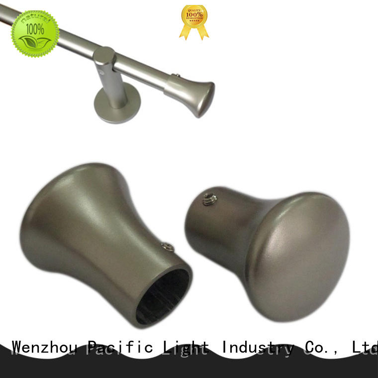 Pacific Top square finial curtain rods factory for company