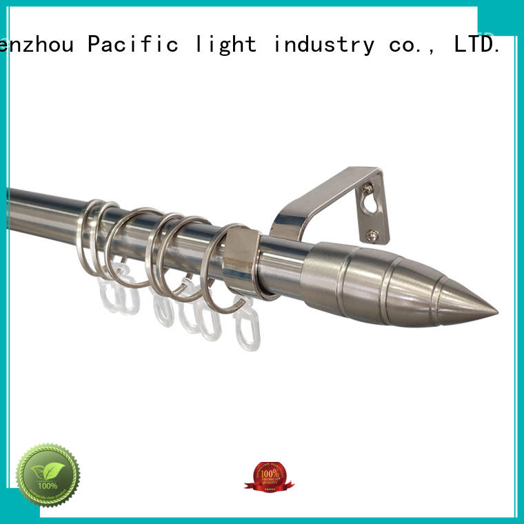 Pacific professional steel curtain rods names for arched window