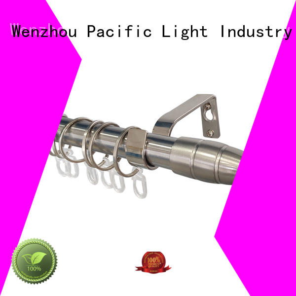 Pacific professional standard white curtain rods wholesale for arched window