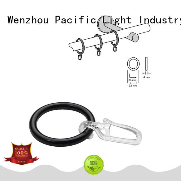 Pacific high quality stainless curtain rings apply for door
