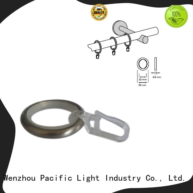 Pacific high quality steel curtain rings apply for patio door