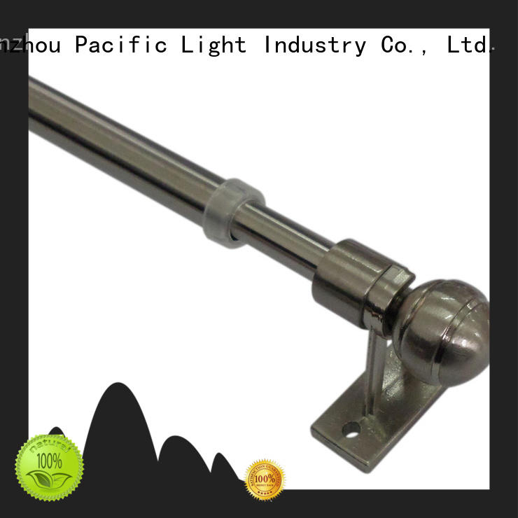 Pacific cheap cafe rod curtain pole supplier for corner window
