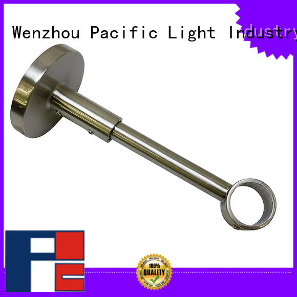 Pacific angled curtain rod bracket supply for sliding door
