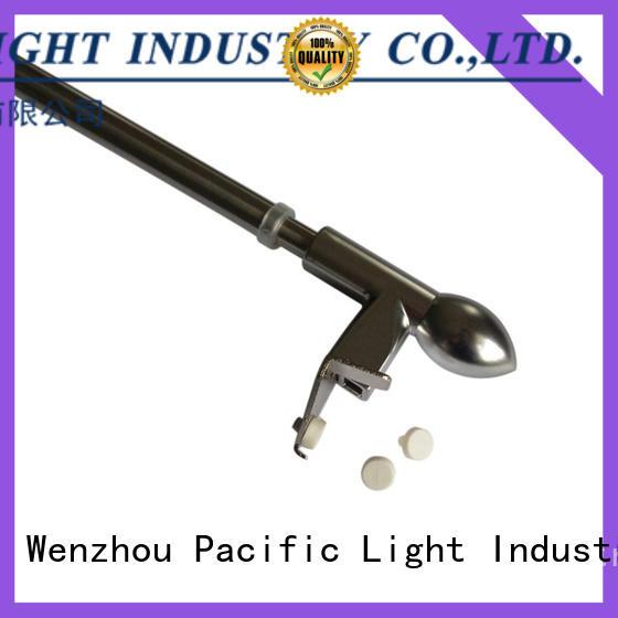 Pacific Custom tension curtain pole supply for corner window