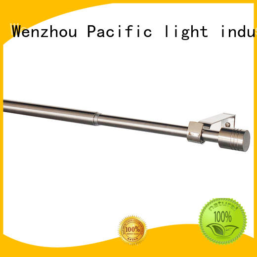 Pacific professional curtain rod for sliding glass door for corner
