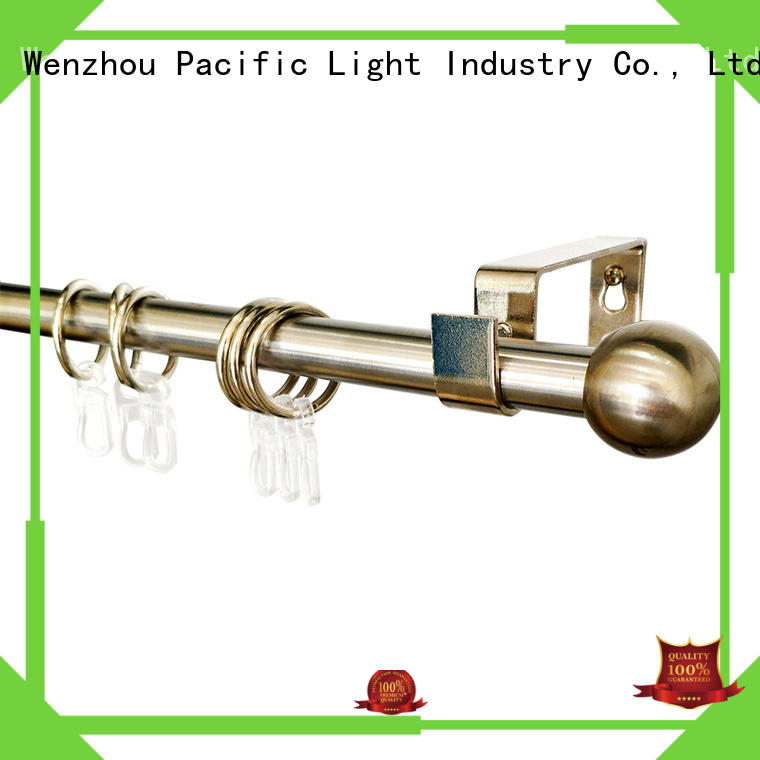 Pacific white metal curtain rods factory for patio door