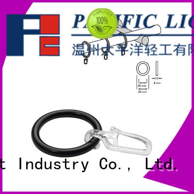 professional curtain rod rings with clips for sale for bay window