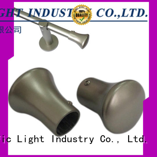 installation brass curtain finials size for hotel