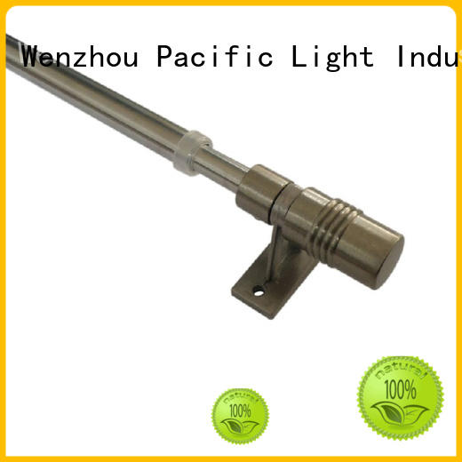 Pacific cheap swing out curtain rods supplier for arched window