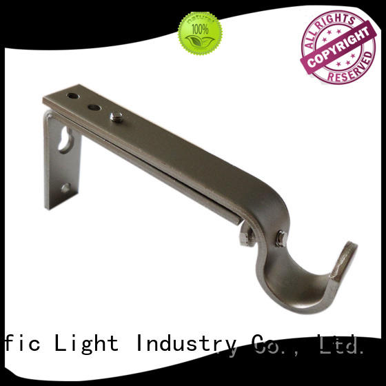 Pacific silver curtain pole brackets color for sliding door