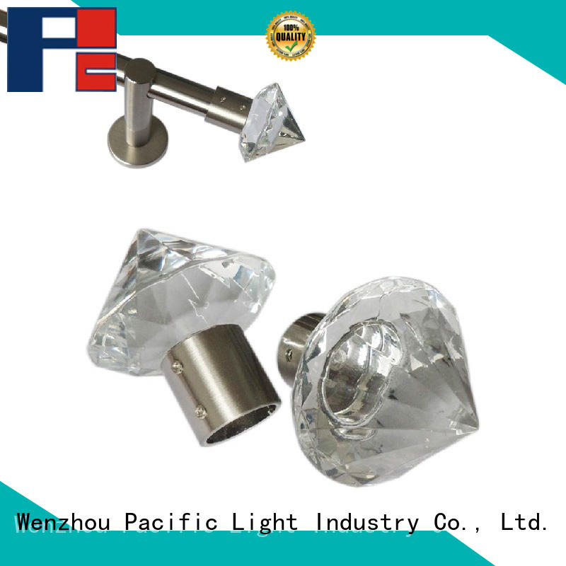 good quality crystal curtain finials make in China for house
