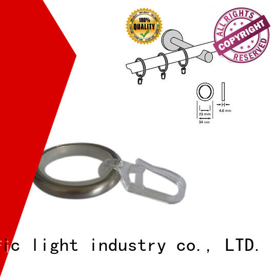 Pacific steel curtain rings factory price for corner window