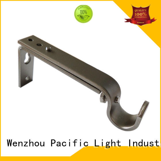 complete iron curtain rod brackets application for sliding door