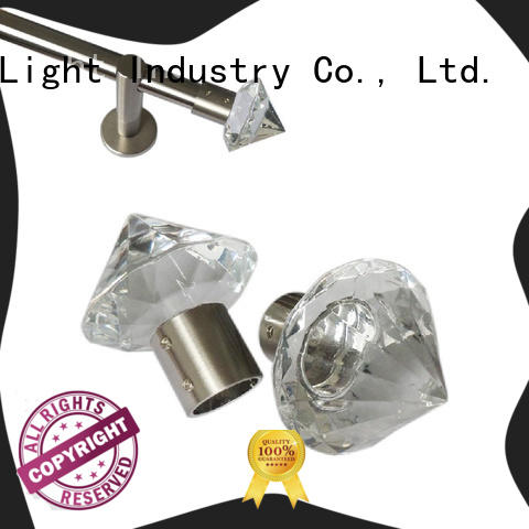 New mercury glass curtain rod finials factory for hotel