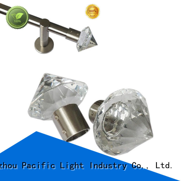 Pacific crystal curtain pole finials make in China for house