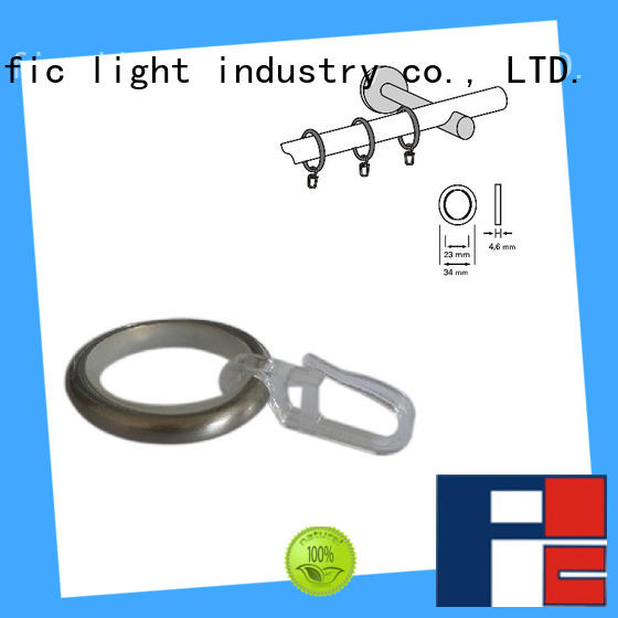 Pacific buy curtain rod rings with clips factory price for corner window