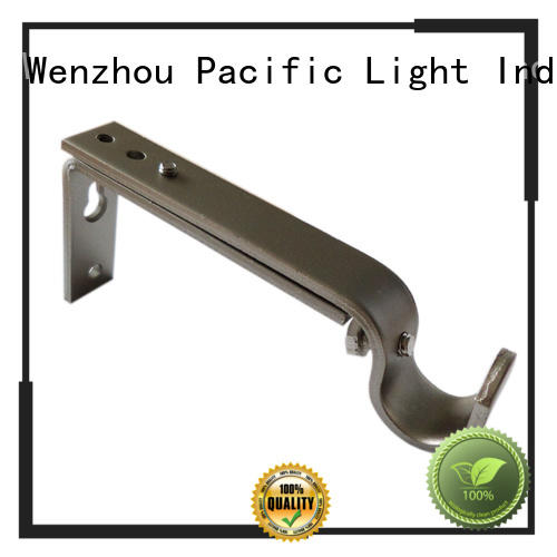 Pacific simple curtain rod brackets products for corner